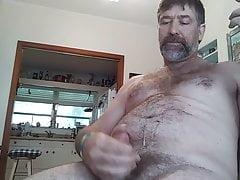 5 24 18 Danrun Cums hard on his hairy musky self again