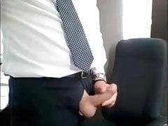 Uncut cock in a suit