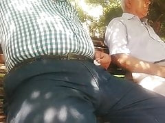 Grandpa big bulge