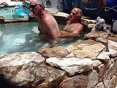 Hot Tub Fucking With A Hairy Buddy
