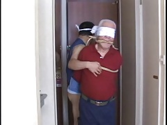 Japanese old man slave