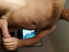 showin and strokin nice fat cock and balls