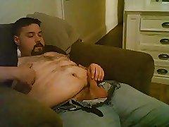 Chubby bear cumming