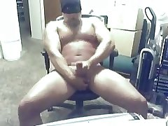 Masked muscle daddy bear cumming