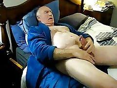 Senior play and cum