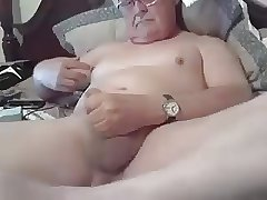 Handsome daddy play and cum