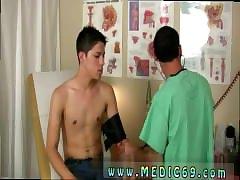 Hot gay medical fetish bending while having