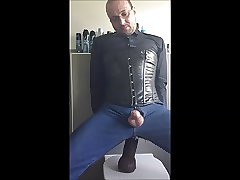 Blusenstute gay anal dildo 3-button-collar blouse and corset