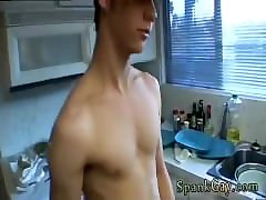 Gay twink run naked outdoors A Gang Spank