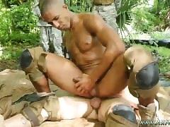 Free gay porn military gangbang fag gets