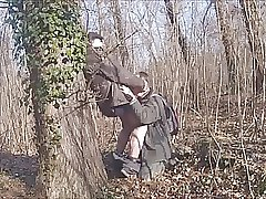 With hot grandfather in the forest 18