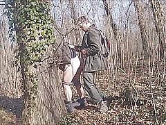 With hot grandfather in the forest 17