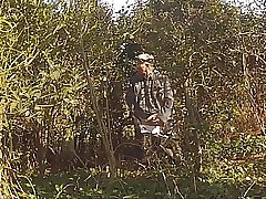 With hot grandfather in the forest 12
