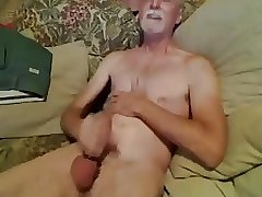 Slim daddy jerk off