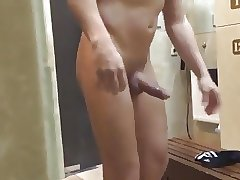 Caught - Daddy (shaved hard dick in the locker room)