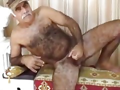 Bear daddy play and cum
