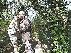 With hot grandfather in the forest 7