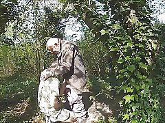 With hot grandfather in the forest 6
