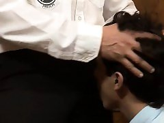 This horny daddy officer knows all too well how to abuse