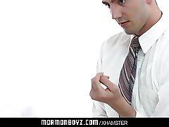 MormonBoyz-Young boy surrenders hole for bareback creampie