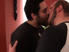 Hairy superchub jerking off while fingered