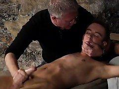 Bondage and butts and gay boy bondage blowjob British twink