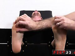 Nice smooth gay feet to cum on Kenny Tickled In A Straight J