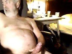 Aged man unloads during sex