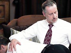 Horny bishop tugs mormon