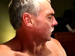 Mature gaystraight biker gets facial