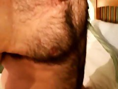 Amatuer hairy bear receives first facial