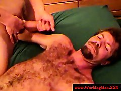 Redneck amateur bear really wants facial