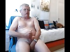 gandpa cum on webcam