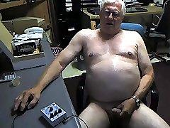 grandpa stroke and play on webcam