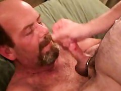 Straight mature bear bikers tasting cock