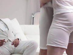 Underwear voyeur cums