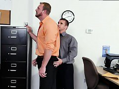 Gay sex free daddy hard First day at work