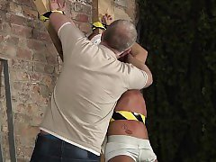 Young chubby gay twink New slave guy Kenzie had no idea this