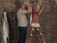 Free emo bondage movies gay first time Slave Boy Made To Squ