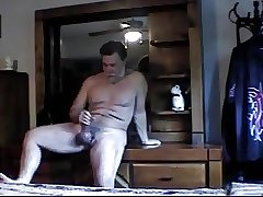 Hot Daddy bear shooting tons of cum