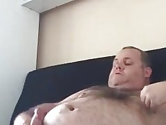 Chub bear handjob and cum