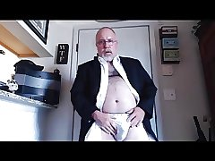 Daddy Strips From His Suit