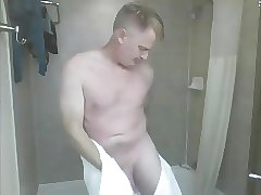 daddy takes a shower
