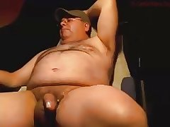 Daddy chubby handjob and cum
