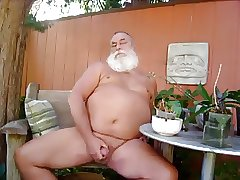 Daddy handjob outdoor play and cum