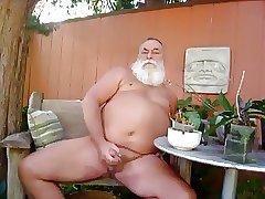 Daddy handjob outdoor play and cum