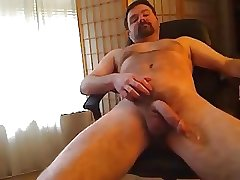 Cute little bear jacking off