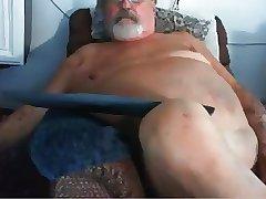 gay grandpa stroke on webcam