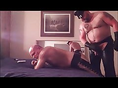 Leather Daddy fucks boy