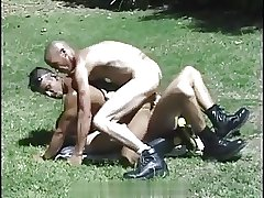 Bareback Fuck on Grassy plain (DP)